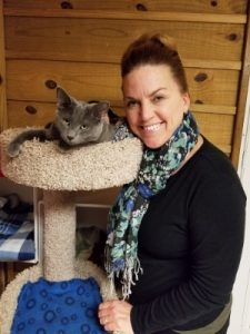 Tinker and new Mom Kathleen - April 2018