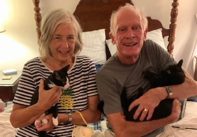 Blaze (left) & Carbon (right) with new family - July 2020